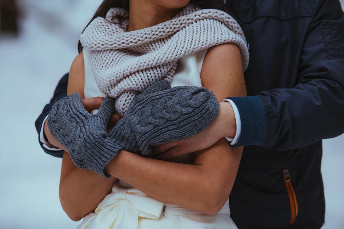 gdzie na plener ślubny w zimie, zimowe zdjęcia ślubne