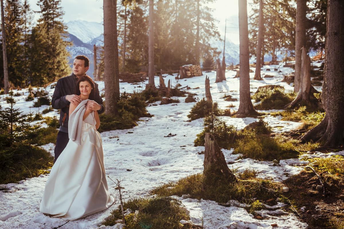 gdzie na plener ślubny w zimie