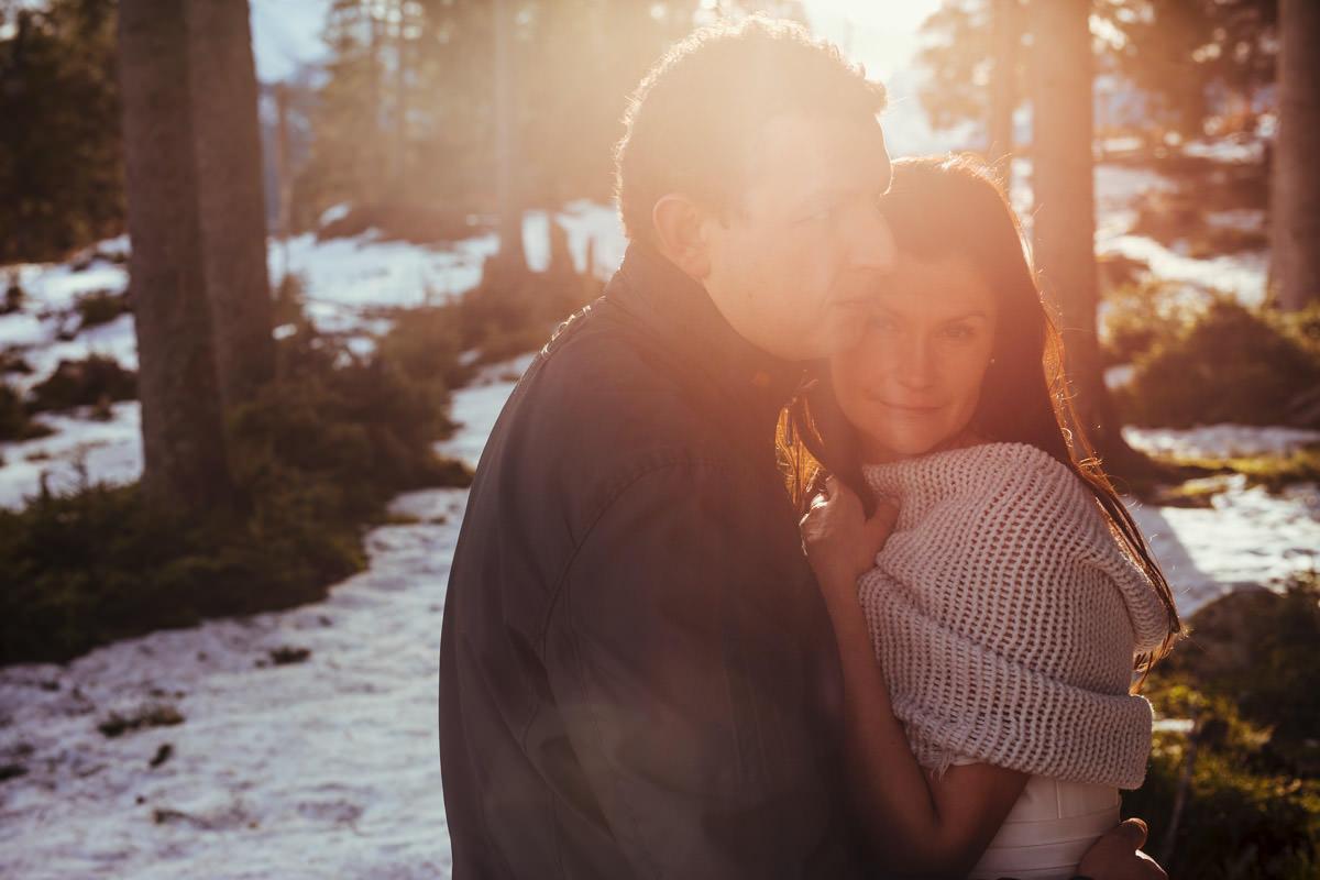plener ślubny w zimie