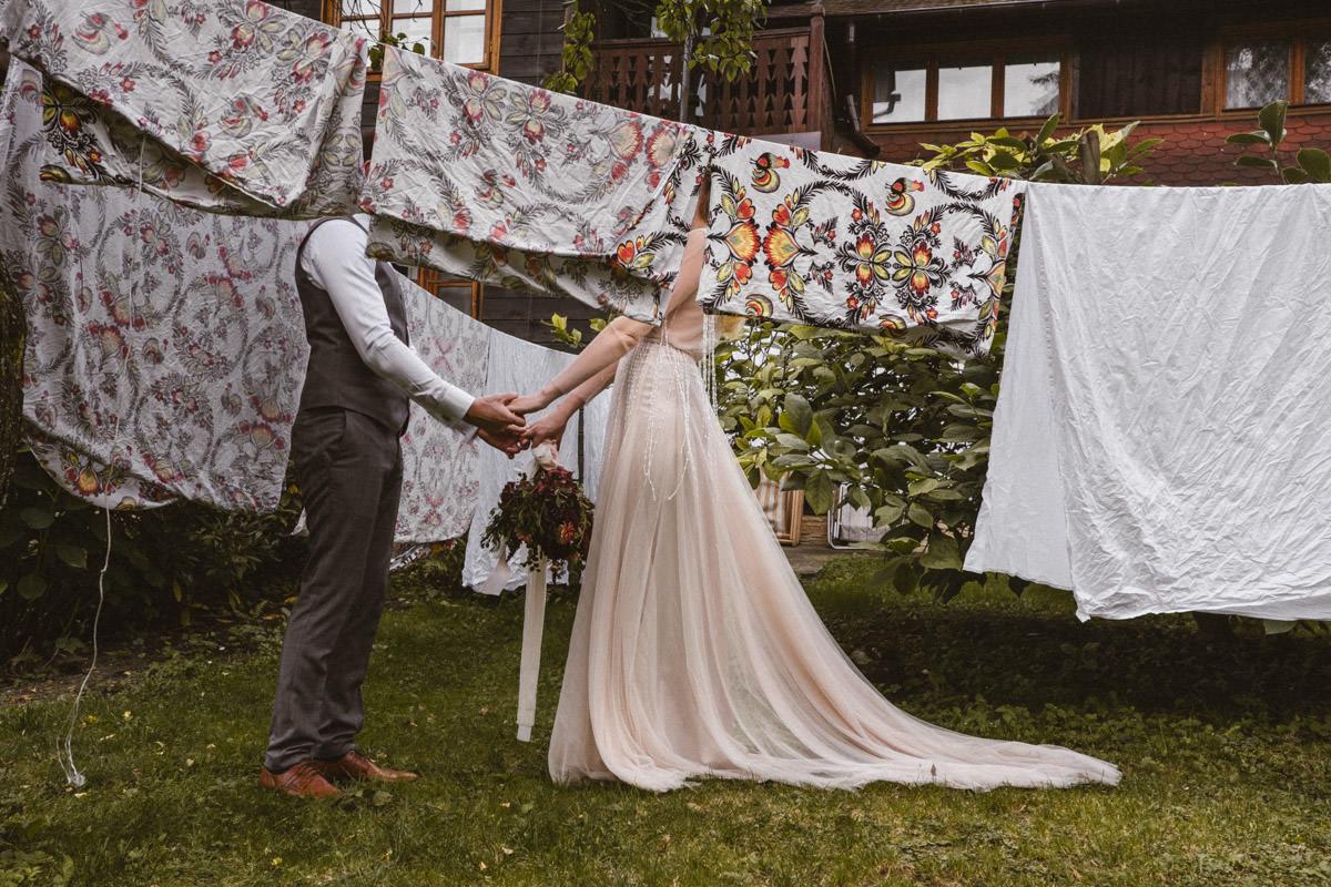 sesja ślubna w lanckoronie, willa tadeusz