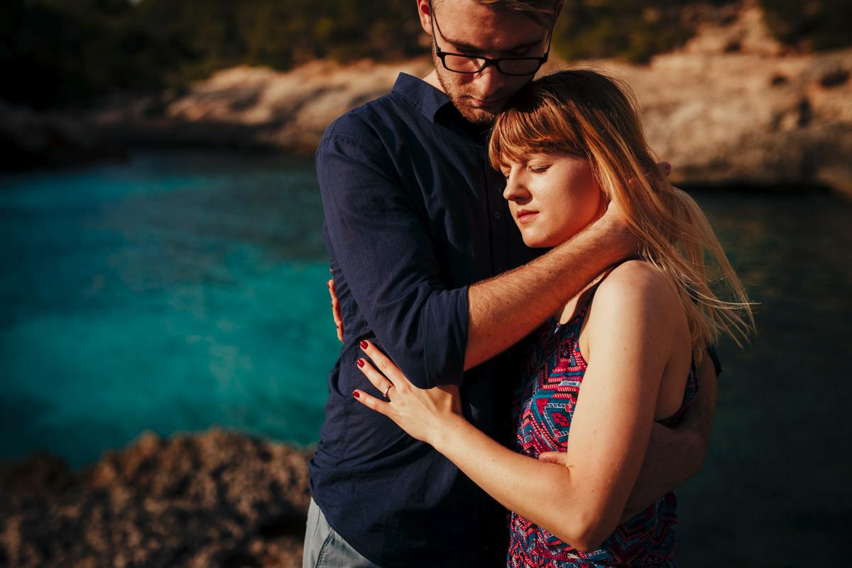 sesja ślubna przy zachodzie słońca, zagraniczny ślub fotograf, fotograf ślubny na ślub za granicą