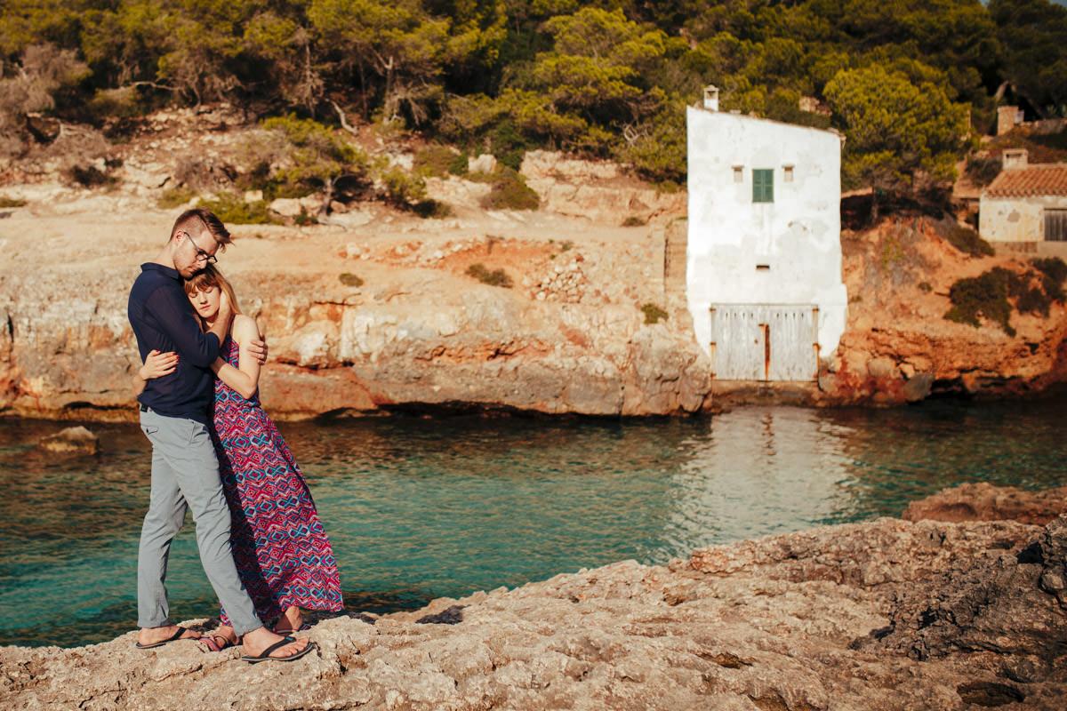 sesja ślubna przy zachodzie słońca, zagraniczny ślub fotograf