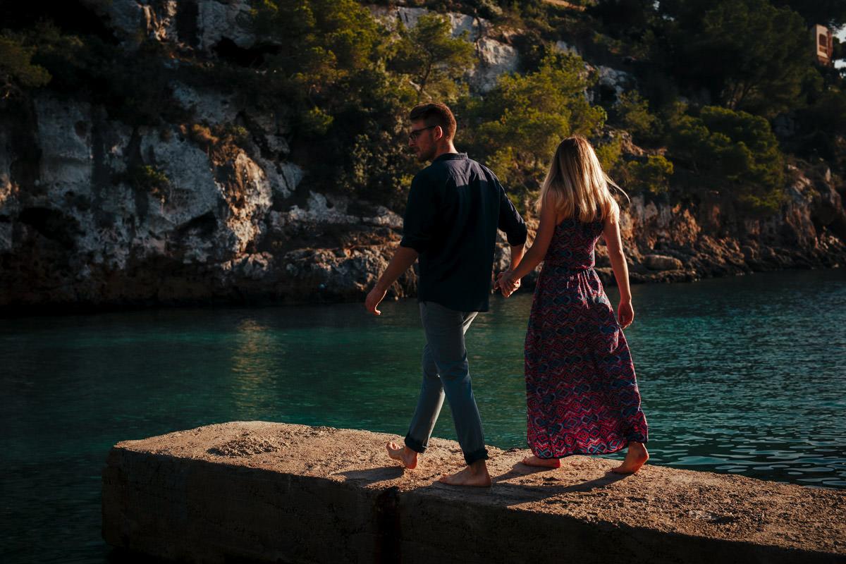 fotograf ślubny na plener zagraniczny, plener nad morzem, zdjecia ślubne w hiszpanii, zdjęcia w grecji