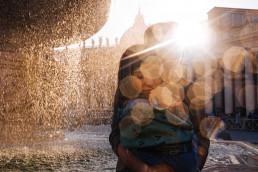 romantyczny plener ślubny w rzymie