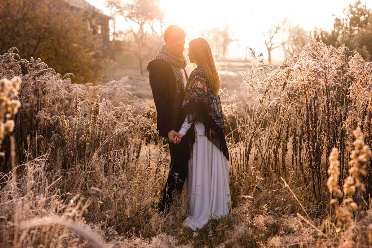 poranny plener ślubny
