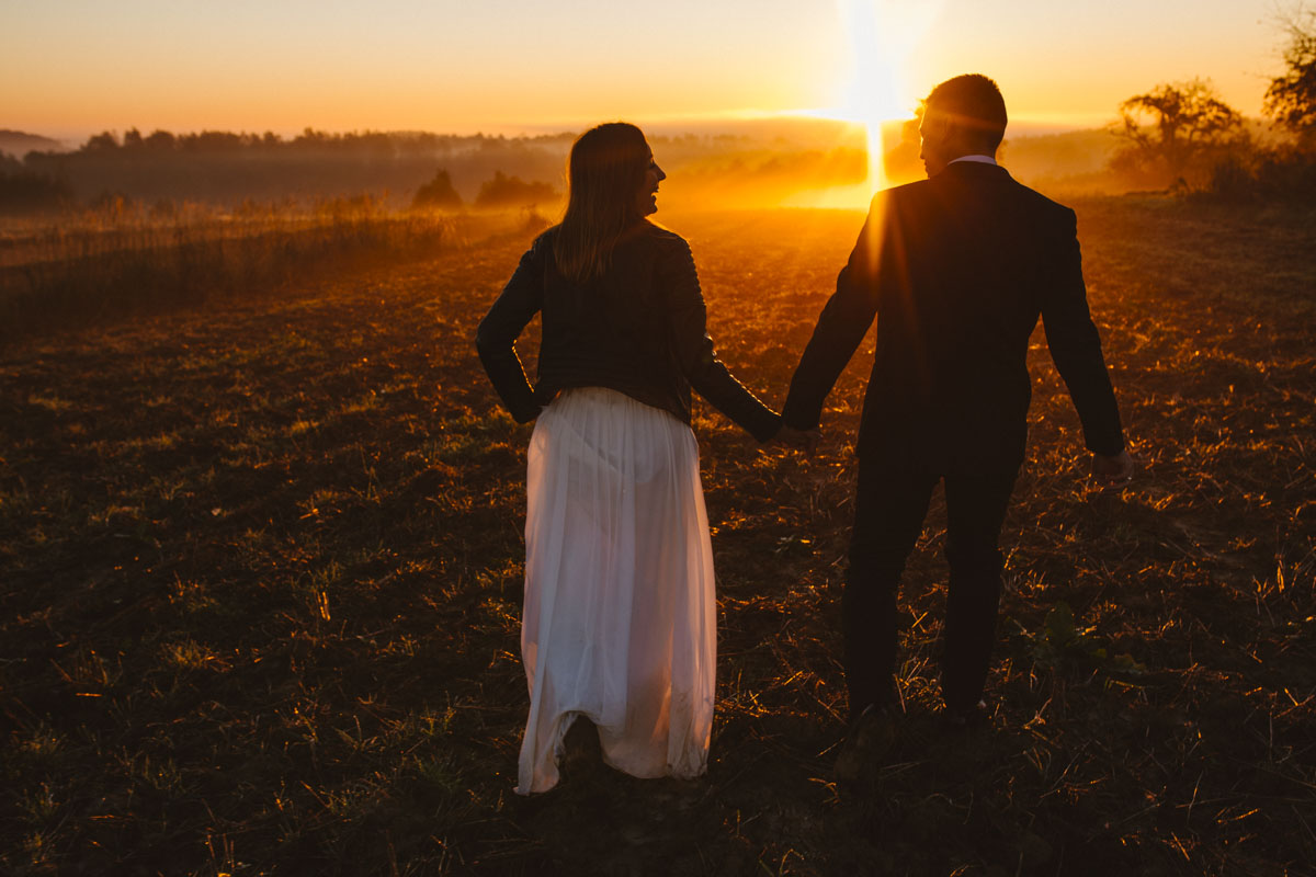 zdjęcia ślubne o wschodzie